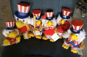 Six 1984 Sam the Olympic Eagle Mascot Stuffed Toy Collectibles for Sale in Fullerton, CA