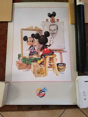 Walt Disney Mickey Mouse Self Portrait Art Print Poster for Sale in Glendale, AZ
