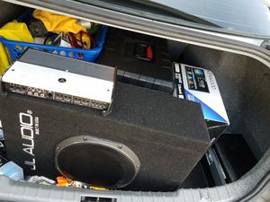 Car audio 5 Channel JL amp and a brand new Kenwood double din for Sale in Virginia Beach, VA