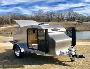 This is a fully hand built teardrop camper, we have built this from ground up. Every detail was hand carved and fitted. This unit is one of our delux for Sale in Grapevine, TX