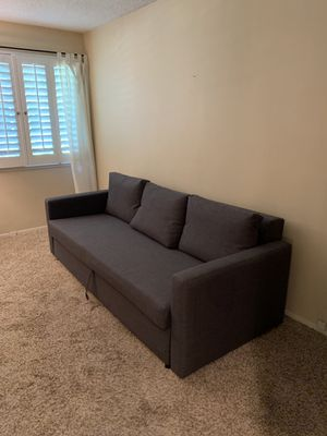 Grey/Blue sleeper sofa/futon type couch for Sale in Laguna Woods, CA