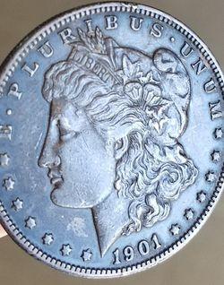 1901-O Morgan silver dollar toned. for Sale in Pompano Beach,  FL