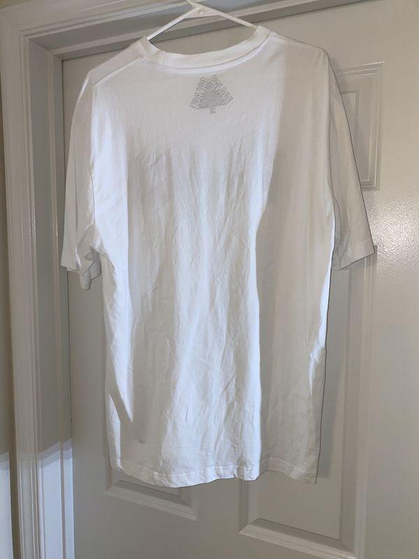 Palace Check T-Shirt White size XL