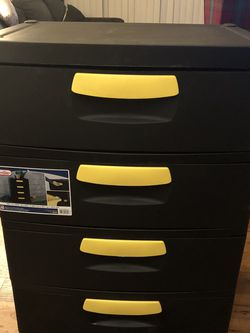 Sterilite Plastic Four Drawer Storage Container for Sale in Carrollton,  TX