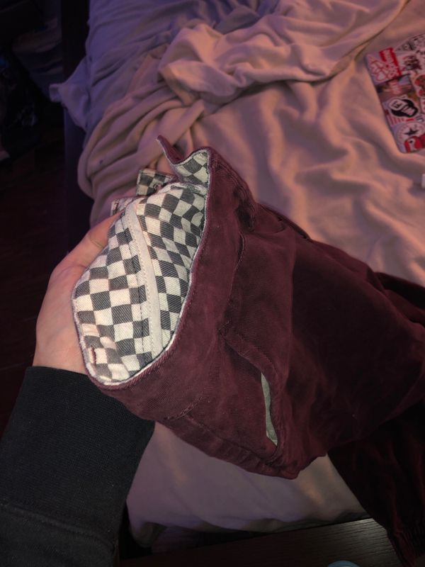 Vans Burgundy joggers 30x30 Barely worn