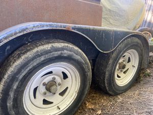 """(4x) trailer rims and tires. 5 lug by 5"""" ; 205/75/15 for Sale in Morgan Hill, CA"""