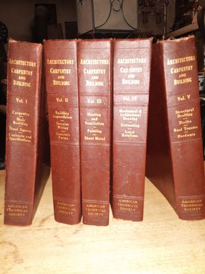 Antique book set. Architecture carpentry and building 1920s for Sale in Kent, WA
