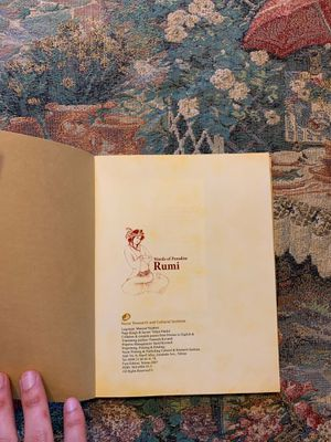 Rumi Words of Paradise full color print book from Iran for Sale in Portland, OR