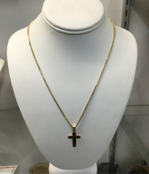 10k Yellow Gold Chain with 10k Gold Cross Pendent for Sale in Chula Vista, CA
