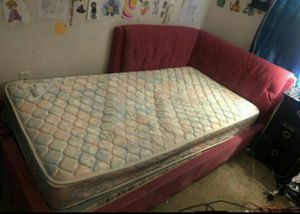 Pink twin bed frame for Sale in Charlotte, NC