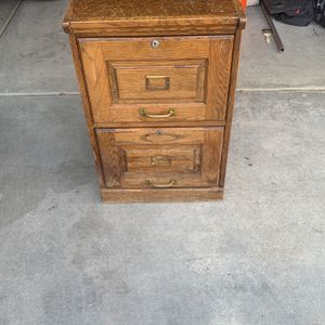 Wood Filing Cabinet for Sale in Norco, CA
