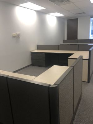 Office cubicles excellent condition with powered for Sale in Spring, TX