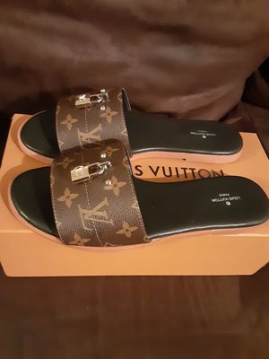 Louis Vuitton slides size 8 womens for Sale in Carson, CA