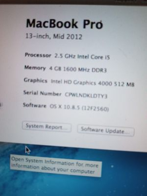 2012 Macbook Pro no shipping for Sale in Mableton, GA