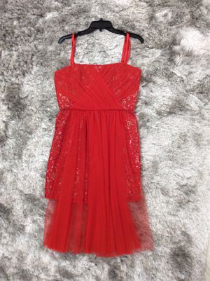 NWT BCBGMAXAZRIA Red Strapless Sequin Tulle Overlay Vienna Formal Dress Size: US 10 (M/L) for Sale in Whittier, CA