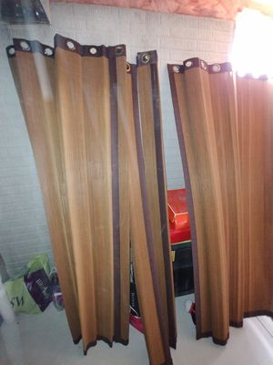 Bamboo slide door curtains for Sale in Brunswick, OH