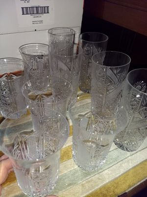 Crystal glassware for Sale in Midland, TX