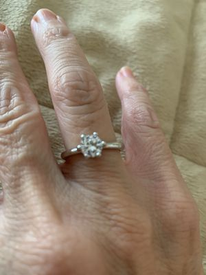 New CZ 1.75 sterling silver 925 wedding ring size 7 for Sale in Palatine, IL