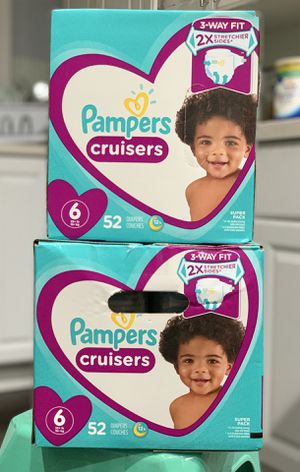 Pampers diapers size 6 $20 per box for Sale in Long Beach, CA
