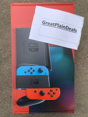 BRAND NEW Nintendo Switch 32GB V2 Console with Neon Red/Blue Joy-Cons for Sale in Arlington, TX