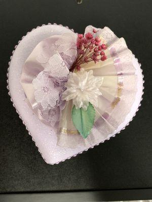 Delicate Purple Heart jewelry baby box. for Sale in Washington, DC