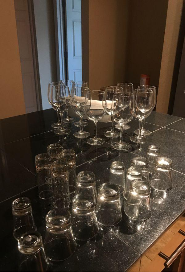 Free wine glasses and shot glasses
