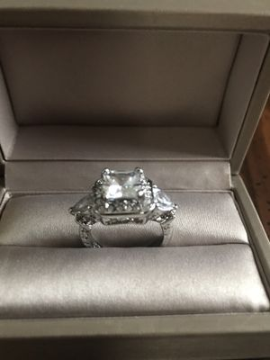 925 stamped sterling silver with white sapphire stones promised engagement ring size 7 for Sale in Wood Dale, IL
