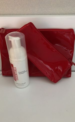 Rodan + Fields Foaming Sunless Tan; Gift-red make up bag for Sale in Houston, TX