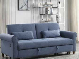 Price Online‼️Blue Sleeper Sofa • Delivery • Assembly • FREE Financing ‼️Same as cash for Sale in Las Vegas,  NV
