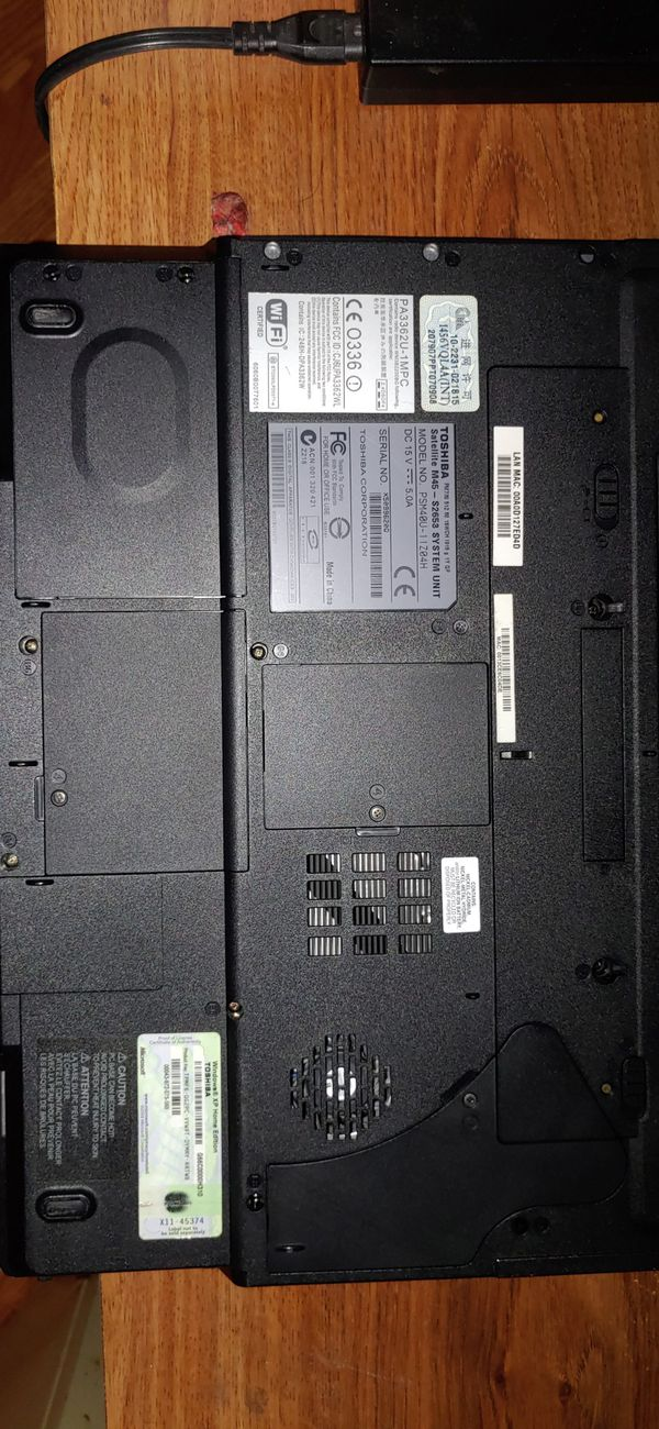 Older Toshiba laptop