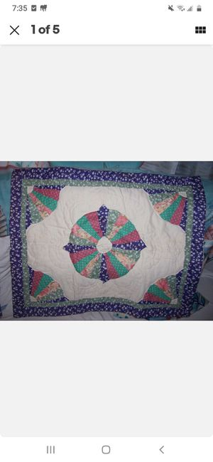 2 pc QUILTED PILLOW CASES BOHEMIAN FARMHOUSE VINTAGE for Sale in San Diego, CA