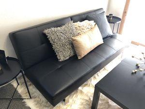 Black Futon, Small Sofa, Adjustable for Sale in Tacoma, WA
