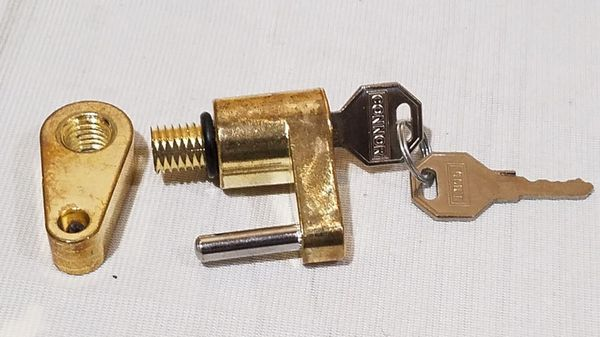 @CHV CONNOR TOWING 1615160 TRAILER COUPLER LOCK BRASS #53