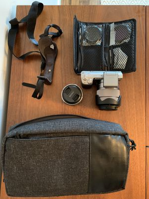 Sony Alpha NEX-5N 16.1MP Digital Camera - Silver With E Mount Lens Kit, Bag, Lens Filters for Sale in Portland, OR
