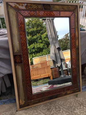 Antique wall mirror have some details on frame you can see it on a picture 34 x 46 for Sale in San Bernardino, CA
