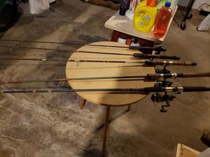 5 fishing rods for Sale in Naugatuck, CT