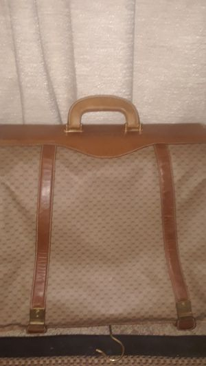 Authentic GG VINTAGE Travel Garment Luggage Bag. All gold Hardware is Labled.GUCCI!!!! for Sale in Midland, NC