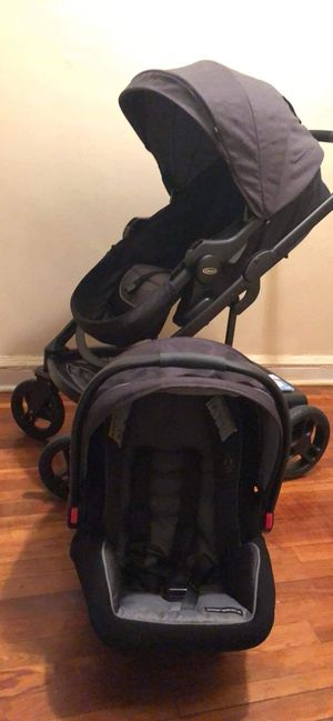 GRACO UNO2DOU Travel system with SnugRide SnugLock 35 Click Connect Infant Car Seat for Sale in The Bronx, NY