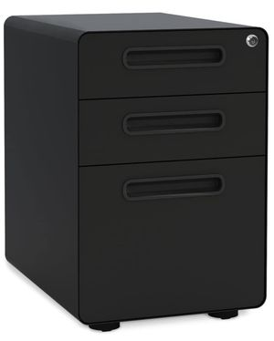 Devaise steel 3 drawer locking filing cabinet for Sale in Austin, TX