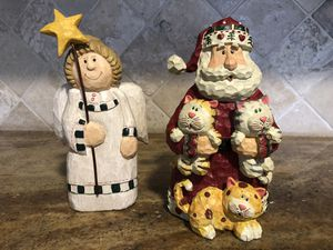 Santa holding cats & Angel for Sale in Bedford, TX