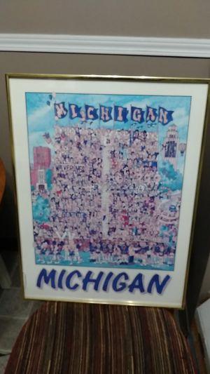 Michigan Wolverine collectible artwork for Sale in Saint CLR SHORES, MI