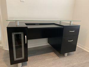 Black Office Desk $160 OBO for Sale in Tampa, FL