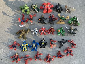 Marvel and DC comics superhero action figure toys playskool and imaginext for Sale in Camp Hill, PA