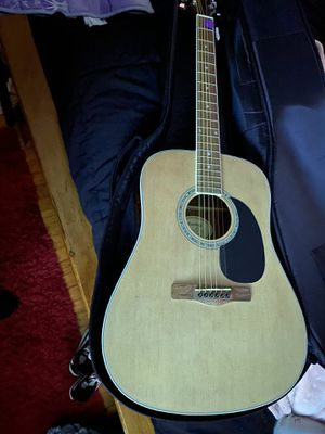 Mitchell acoustic guitar plus Road runner gig bag for Sale in Houston, TX