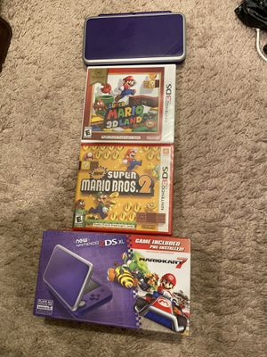 """New"" 2ds xl with 3 mario games for Sale in Seattle, WA"