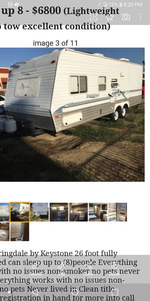 2003 Springdale by Keystone Bunkhouse travel trailer for Sale in Ontario, CA
