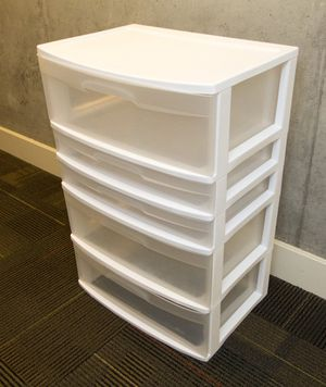 5 drawer clear plastic storage for Sale in San Francisco, CA