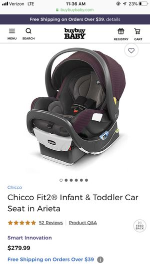 Chicco fit2 car seat for Sale in Rochester, NY