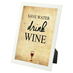 """""""Save Water Drink Wine"""" - framed wall art print for Sale in Fairfax, VA"""