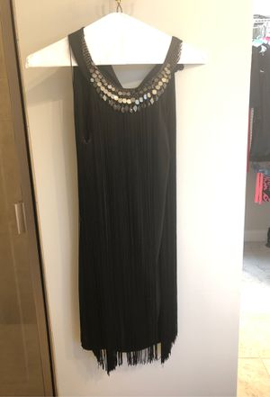 MUSE black fringe party dress for Sale in Thomasville, NC